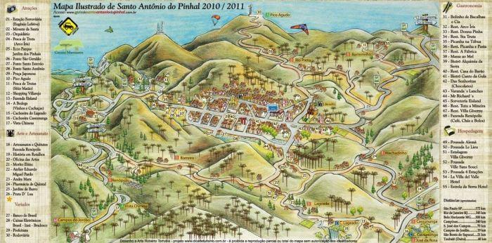 Mapa turístico S A Pinhal
