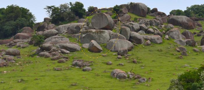 pedra trincada